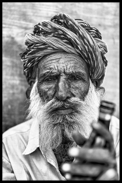 Indian Man Portrait Plakat