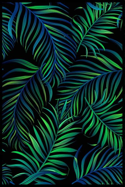 Green Palms Illustration Plakat
