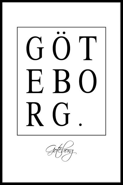 Göteborg Box Text Plakat