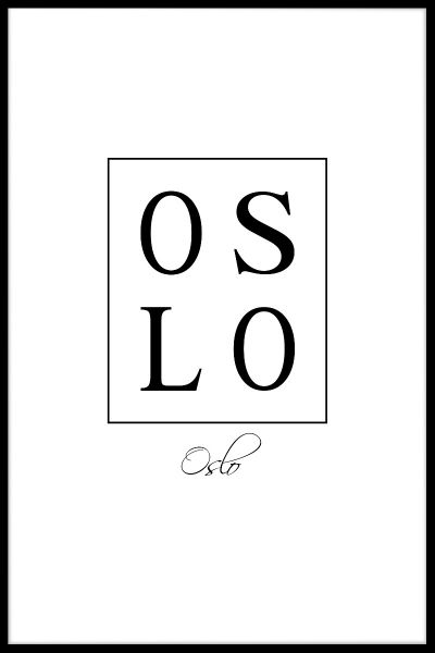 Oslo Box Text Plakat
