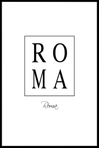 Roma Box Text Plakat