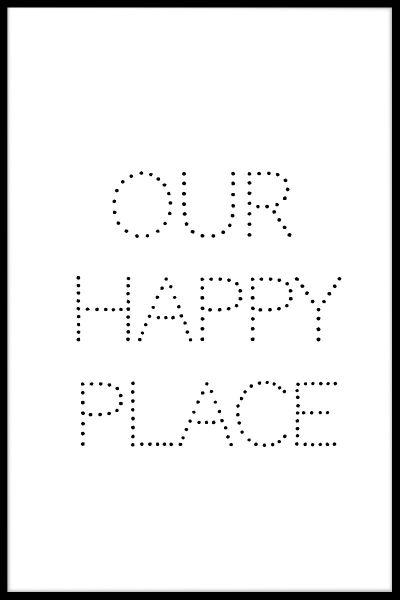 Our Happy Place N02 Plakat