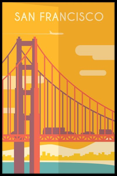 San Francisco Vintage Travel Plakat