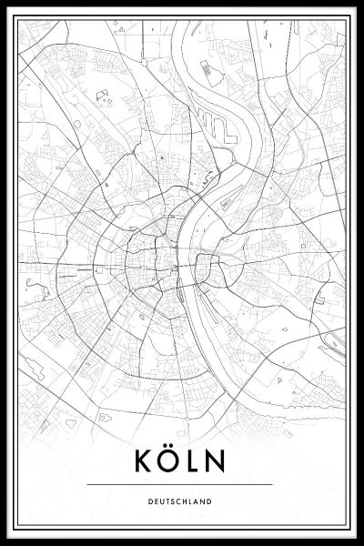 Köln Map Plakat
