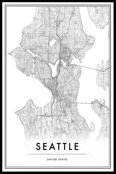 Seattle Kortplakat