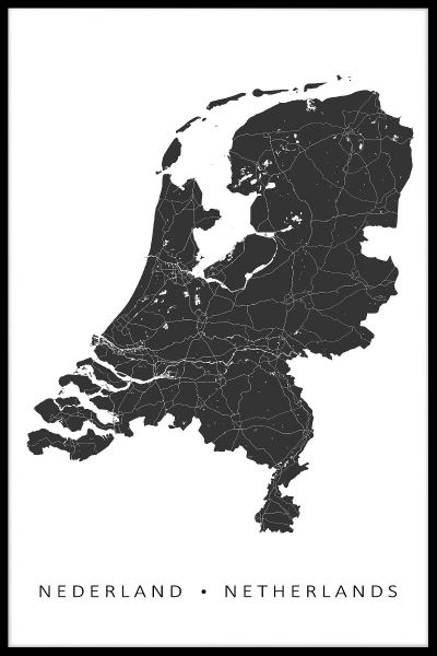 Netherlands Map Plakat