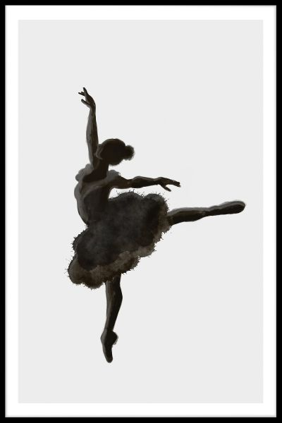 Ballerina Illustration Plakat