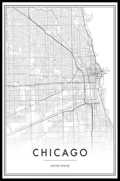 Chicago Map Plakat