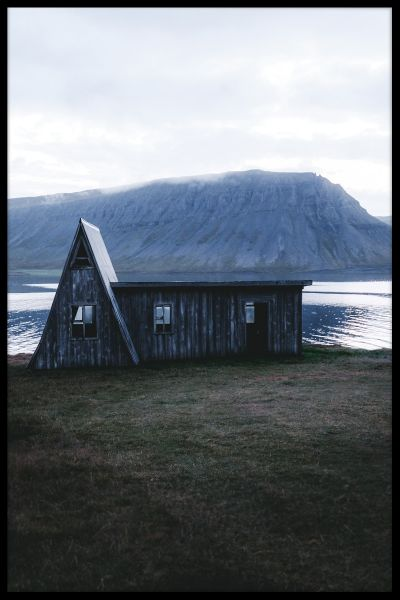 Old Wooden House Iceland Plakat