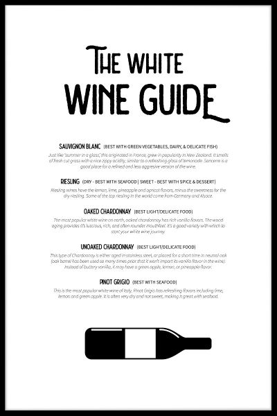 White Wine Guide Plakat