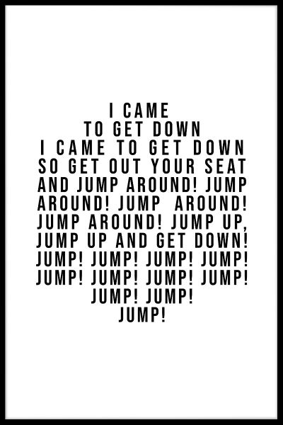 Jump Around Plakat