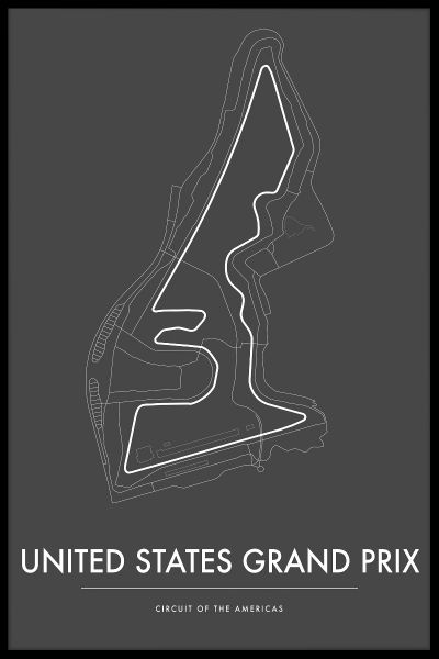 Circuit of the Americas US GP Plakat
