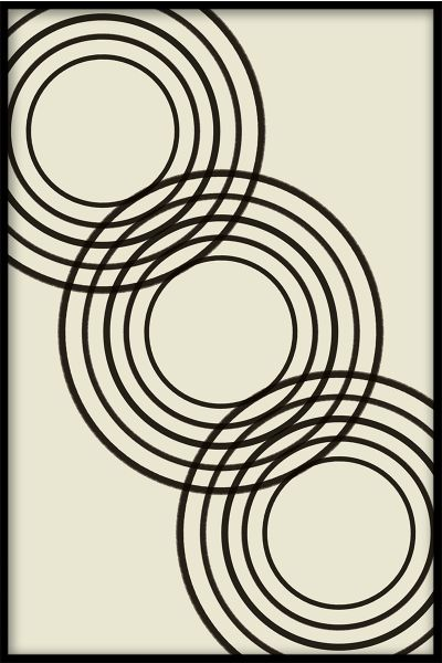 Abstract Rings Art Plakat