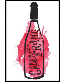 Cabernet Franc Illustration Plakat