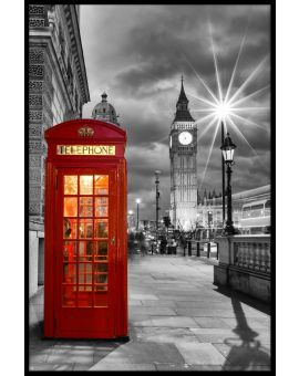London Phone Booth Westminster Plakat