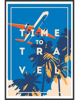 Time To Travel Vintage Plakat