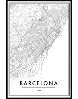 Barcelona Spain Map Plakat