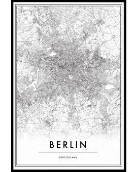 Berlin Germany Map Plakat