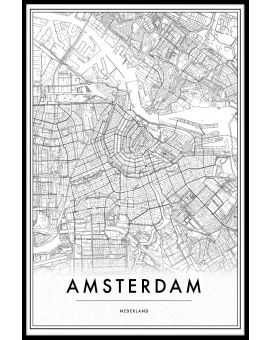 Amsterdam Netherlands Map Plakat