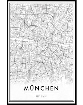 Munich Germany Map Plakat