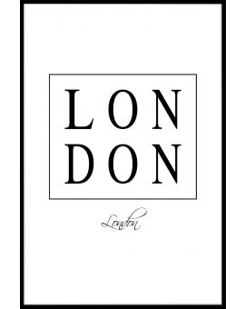 London Box Text Plakat