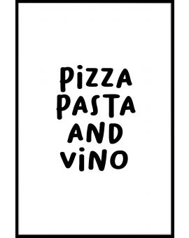 Pizza Pasta And Vino Plakat
