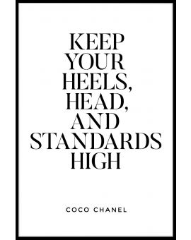 Keep Your Heels Head And Plakat