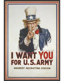 Uncle Sam Vintage Plakat