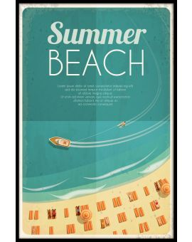Summer Beach Vintage Plakat