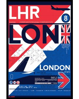 LHR London Airport Plakat