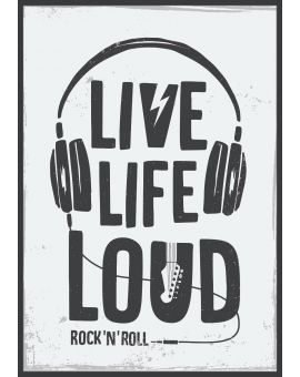 Live Life Loud Music Plakat