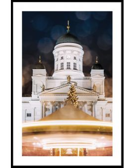 Helsinki Cathedral at Night Plakat