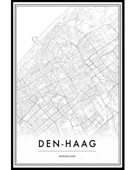 Den Haag Map Plakat