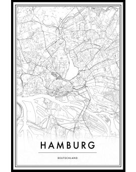 Hamburg Map Plakat