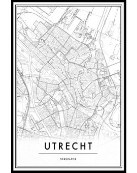 Utrecht Map Plakat