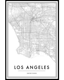 Los Angeles Map Plakat