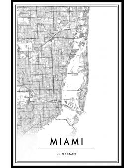 Miami Map Plakat