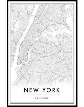 New York Map Plakat