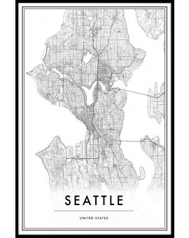 Seattle Map Plakat
