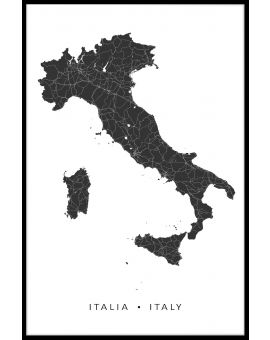 Italy Map N02 Plakat