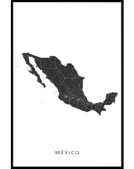 Mexico Map Plakat