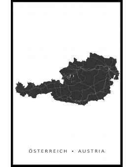 Austria Map Plakat