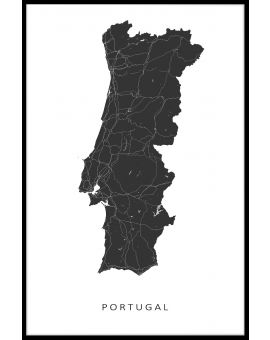 Portugal Map Plakat