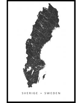 Sweden Map Plakat