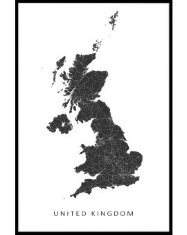 United Kingdom Map Plakat