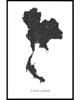Thailand Map Plakat