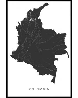 Colombia Map Plakat
