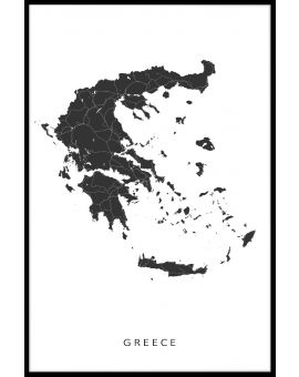 Greece Map Plakat