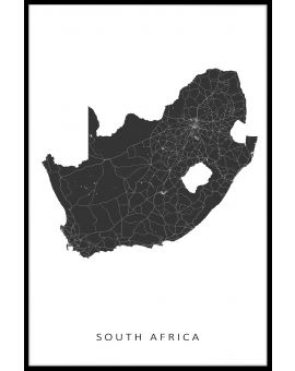 South Africa Map Plakat