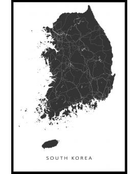South Korea Map Plakat